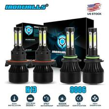 IRONWALLS 9006+H13 LED Headlight Bulbs Kit 6000K For Dodge Ram 1500 2004-2009