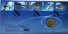 GB QEII PNC COIN COVER 1997 Flights of Genius £2 Coin ROYAL MAIL / MINT