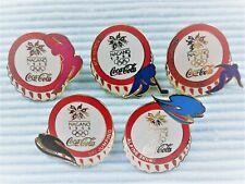 5 COCA COLA OLYMPIA !!! Nagano 1998 !!! mit Pictogram Pins