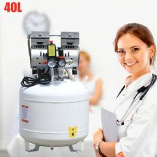 Portable Dental Medical Air Compressor Silent Noiseless Oil Free Oilless 115 Psi