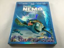 Finding Nemo Blu Ray 3 Disc Collector's Edition Sealed slip cover Disney Pixar