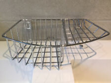 Wall Mounted Metal Steel Bathroom Bath Shower Caddy Basket Tidy Kitchen Storage