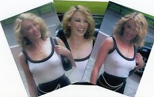 """KYLIE MINOGUE ~ BRALESS ~ COLD DAY ~ 3 HOT CANDID 6x4"""" GLOSSY PHOTOS."""