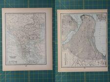 Turkey Constantinople Vintage Original 1893 Columbian World Fair Atlas Map Lot