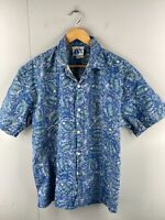 The Mens Store at Sears Men's Vintage Short Sleeve Casual Shirt Size L Blue