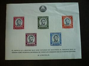 Stamps - Nicaragua - Scott# 828a - Souvenir Sheet - Imperf