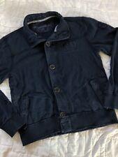 Mens Napapijri Sweater Jacket Cardigan Blue Button Up Cotton Size Small S (?)