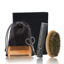 Beard Brush Set Double-sided Styling Comb Scissor Repair Modeling Cleaning Ca IS
