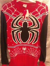 Spider-Man Ugly Xmas Sweater Marvel Comics Superhero Holiday Christmas Red xlg