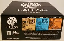 HEB VARIETY San Antonio/Texas PECAN Cafe Ole Coffee K-cups 54 count