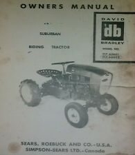 Sears Suburban David Bradley Garden Tractor & Implements Owner, Parts (5 MANUALS