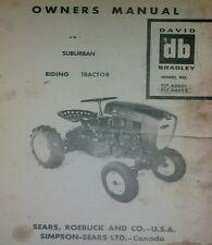Sears Suburban David Bradley Garden Tractor & Implements Owner, Parts (5 MANUALS