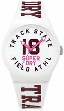 Superdry SYL182VW Track & Field Unisex White 50M WR Watch 2 Yr Guar RRP £29.99
