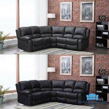 *** BRAND NEW*** Modern Grey or Black Leather Corner Full Recliner Sofa Cheap