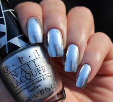 OPI Nagellack Nail Lacquer G30 Push and Shove Silberner Spiegellack Chromeglanz