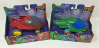 "PJ Masks Rev-N-Rumbler- GEKKO-MOBILE & OWL GLIDER - NEW but ""TRY ME"" Tag Removed"