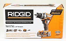 *RIDGID R86009K  Brushless 18V Compact Drill / Driver Kit