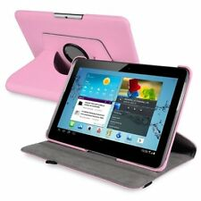 Pink 360degree Swivel Leather Case for 10.1inch Samsung Galaxy Tab 2 P51 L9m9