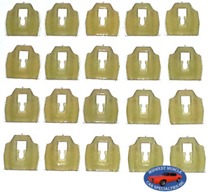 65-90 GM Cadillac Chevy Body Side Belt Vinyl Top Trim Molding Clips 20pcs BB
