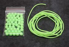 Fishing beads X50 + 2M Lumo Tube, Luminous Glow Tubing, Bream Whiting etc