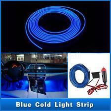 12V 1m Blue LED Cold Light Auto Strip Neon Lamp Decorative Atmosphere