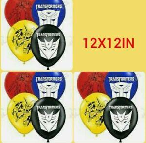 12 12IN TRANSFORMERS BALLOONS CARTOON BALLOONS
