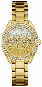 Guess Ladies Glitter Girl Gold Tone Watch W0987L2