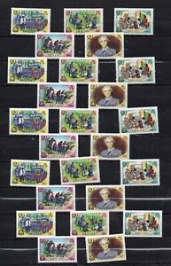 BELIZE STAMPS 1985 75th ANNIVERSARY OF THE GIRL GUIDES 5 X SETS  MNH