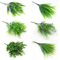 Indoor Outdoor Artificial Plants Fake Leaf Foliage Bush Home Office Hang Decor B