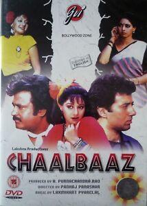 CHAALBAAZ - NEW GVI ORIGINAL BOLLYWOOD DVD - Sunny Deol, Rajanikant, Sridevi