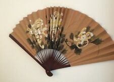 Ornamental Chinese Wall Fan Hand Painted