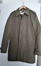 Burberry Brit green trench coat