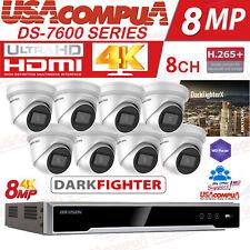HIKVISION  SECURITY SYSTEM 4K-UHD 8 CAMERAS 4K 8 MEGAPIXEL DARKFIGHTER