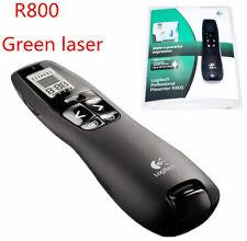 Hot! Logitech Wireless Presenter R800 Green Laser Pointer USB Receiver PPT Pen
