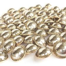 Plata Y Oro Abrigo/Chaqueta Botones diámetro caña en la espalda por 5 Botones 21 mm