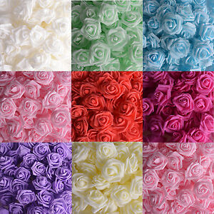 Artificial  Foam Rose DIY Flowers Head Wedding Bride Bouquet Party Decor B079