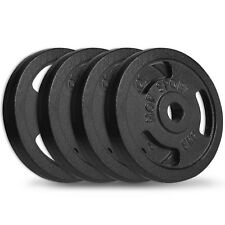 Hop-Sport 20 kg Hantelscheiben 4x5 kg 30/31mm Gripper Guss Gewichte Hanteln Set