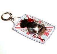Spaniel Keyring  Dog Key Ring Springer Spaniel Gift Xmas Gift Stocking Filler