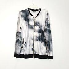 Asos Women's Zip Front Multicolor Zip Front Track Top Jacket - Medium