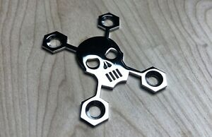 Skull Neck Plate for your Guitar or Bass - Chrome