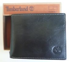 Timberland Dakota Black Leather Passcase Wallet NWT