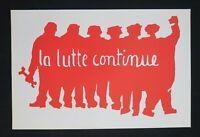 Affiche mai 68 LA LUTTE CONTINUE poster 1968