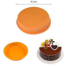 "New 9"" Round Silicone Baking Mold Brownie Cake Bakeware Decorating Dessert Pan"