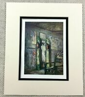 1905 Antique Print Gerhard Munthe Painting Interior Room Decoration NORWAY