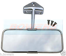 Classico Austin Mini IN ACCIAIO INOX CROMATO Interior vista Posteriore Specchio
