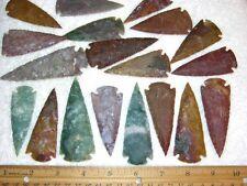 Arrowheads 3 inch hand knapped all natural agate 10 arrowheads per lot
