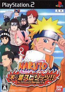 Naruto Konoha Spirits (2006) Brand New Factory Sealed Japan Playstation 2 PS2