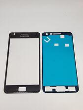 Vitre de remplacement d'écran avant + Adhésif pour Samsung Galaxy S2 Noir