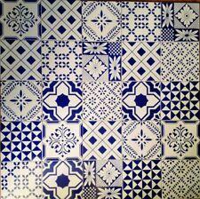 Ceramica Vietri Patchwork Piastrelle 20x20 Decorate In Serigrafia A Mano 1 Mq.