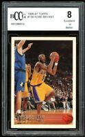 1996-97 Topps #138 Kobe Bryant Rookie Card BGS BCCG 8 Excellent++++